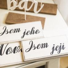 Dřevěné nápisy